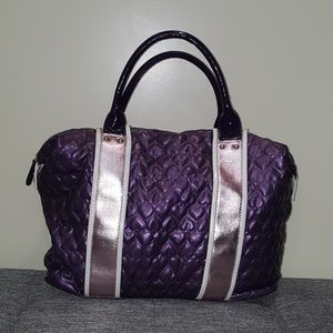 Purple Heart Striped Tote Bag